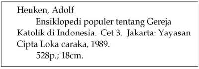 contoh sebuah deskripsi bibliografis